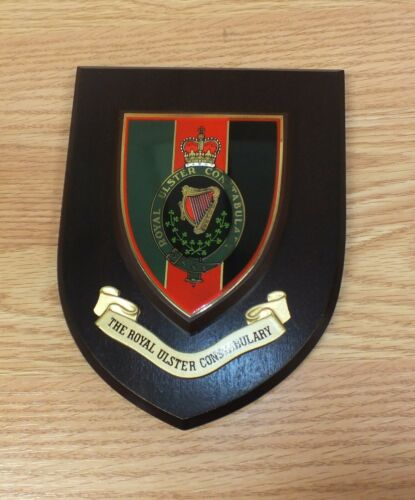 RUC The Royal Ulster Constabulary Wooden Police Wall Plaque Only