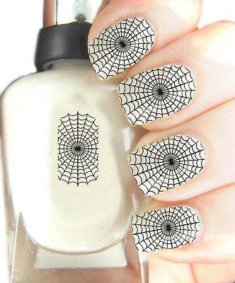 Halloween Nail Art Easy (Spiders Web Halloween - Nail Art Decal Wrap, easy to use on any colour)