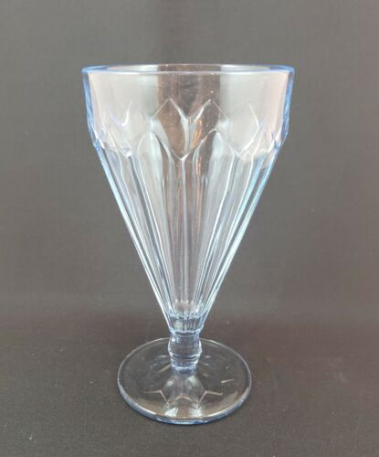 Cambridge Glass Co. 10-ounce Footed Tumblers Moderne Line Willow Blue - 1929