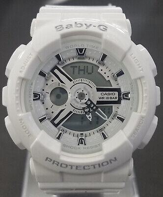 Casio Women's Baby-G Quartz White Watch BA110-7A3 - Retail $120 (40% off)
