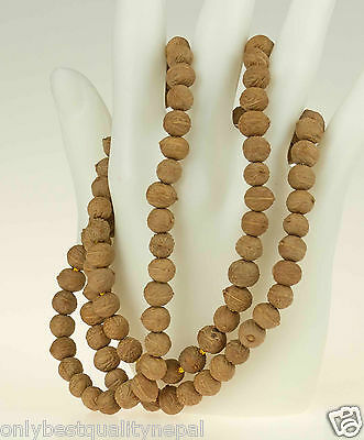 Mala Braun Necklace Raktu Seeds Nepal Buddhism 86g