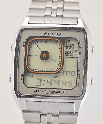 Rare 1981 SEIKO G757 405A Ani Digi Borg LCD All Working Wrist Watch In Box for sale  Shipping to United States