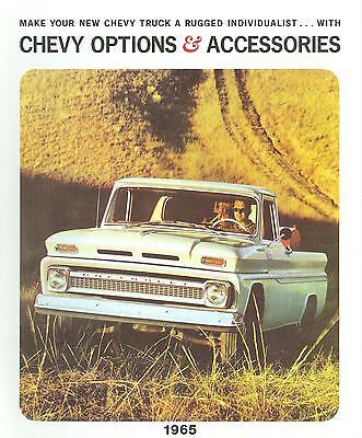 Chevrolet Truck Accessories Brochure - 1965 CHEVROLET TRUCK  GENUINE ACCESSORIES BROCHURE