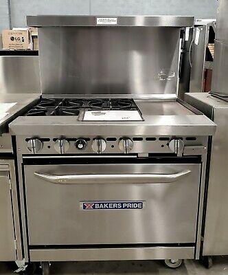 New Bakers Pride 36-bp-4b-g12-s30 Restaurant Series 36 Gas Range Griddle Oven