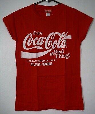Enjoy Coca-Cola The Real Thing Atlanta Georgia Women's Small Coke T-Shirt NWT
