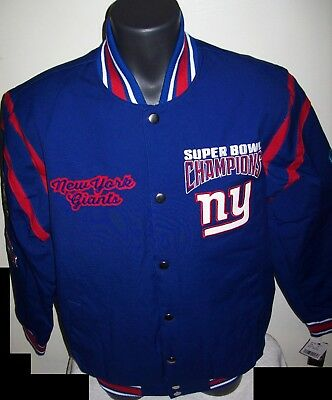 New York Giants 4 Time Super Bowl Championship Jacket New Style  M L Xl 2X