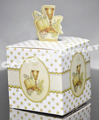 24 PCS COMMUNION PAPER BOX FOR FAVORS/CANDY SMALL BOXES RECUERDOS DE COMUNION (Boxes For Favors)