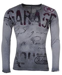 Key-Largo-uomo-maniche-lunghe-pullover-maglia-SCUDERIA-ls00193-Antracite