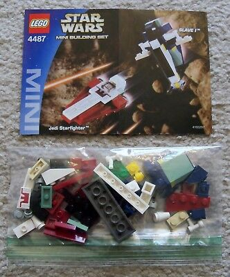 Lego Star Wars   Rare   4487 Jedi Starfighter   Slave I W  Instructions