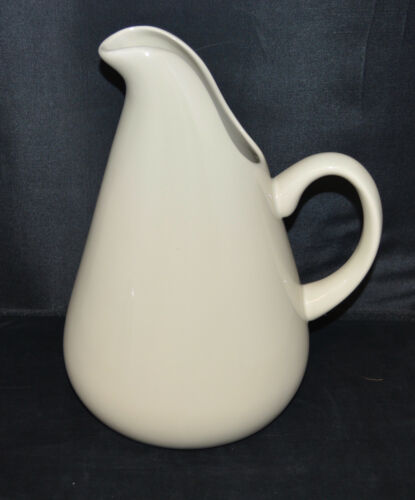 Russell Wright Oneida Large 10 1/2 Pitcher Beige Contemporary  Modern Very Nice