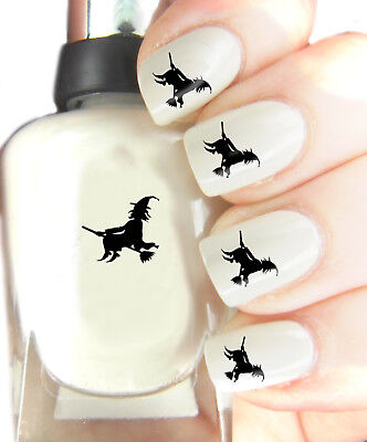 Halloween Witch - Nail Art Decal Stickers, easy to use on any colour nail.285 - Halloween Easy Nails
