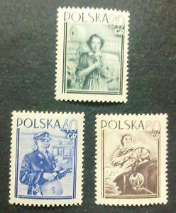 POLAND-STAMPS MNH Fi701-03 Sc614-16 Mi839-41 - Woman&#039;s Day, 1954, clean - <span itemprop=availableAtOrFrom>Reda, Polska</span> - POLAND-STAMPS MNH Fi701-03 Sc614-16 Mi839-41 - Woman&#039;s Day, 1954, clean - Reda, Polska