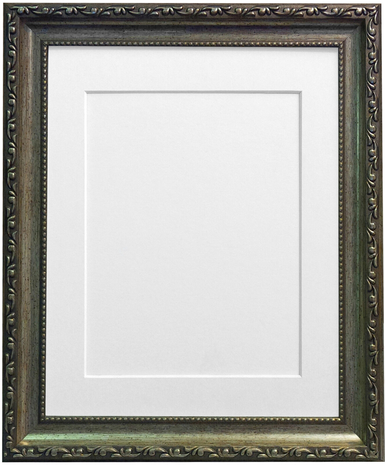 Shabby Chic Ornate Antique Silver Photo Picture Frames & Mount ...