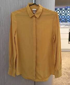 H&M Silk Yellow Blouse/Shirt, US2 or EU32