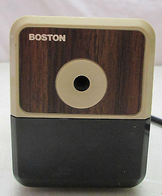 Vintage Boston Desktop Electric Pencil Sharpener Model 18 Usa Tested Hunt Mfg.