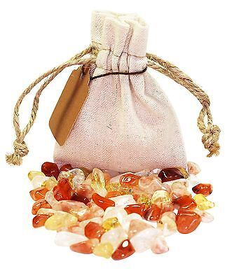 Energy Power Pouch Healing Crystals Stones Set Tumbled Natural Gemstones