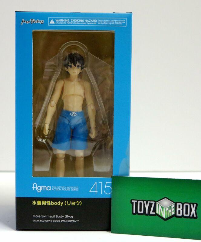In STOCK Figma Male Swimsuit Body (Ryo) 415 Action Figure