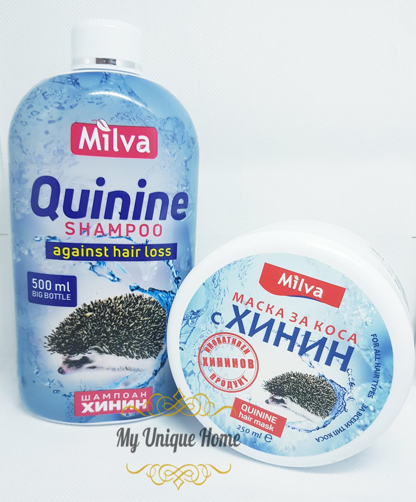 Milva Shampoo mit Chinin 500ml + Haarmaske mit Chinin 250ml