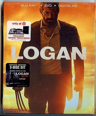 Logan Target Exclusive Blu Ray Dvd Digital Hd W B W Photo Book