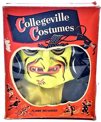 COLLEGEVILLE COSTUMES VINTAGE Halloween Witch with Mask Medium 38-40 Adult B742