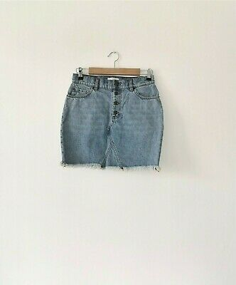 & Other Stories short Denim skirt Los Angeles Atelier high 38 8 10 raw edge