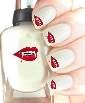 Halloween Teeth - Nail Art Decal Stickers, easy to use on any colour nail.288 - Halloween Easy Nails