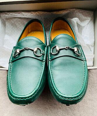 Vintage GUCCI Horsebit Driver / Loafer ~ Size 9.5, GREEN