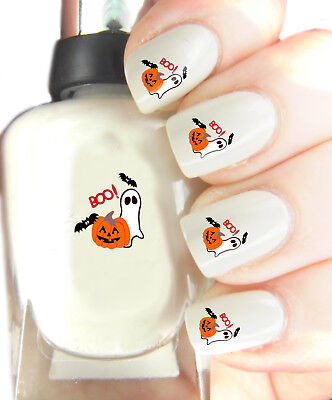 Halloween Ghost - Nail Art Decal Stickers, easy to use on any colour nail.284 - Halloween Easy Nails