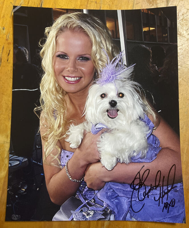 Crystal Hunt Signed 8x10 Photo One Life To Live Guiding Light Puppy