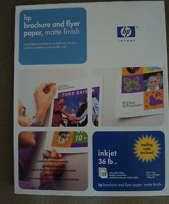 300 papers -NEW HP Inkjet Two Sided White Matte Brochure & Flyer Paper 8.5 x 11
