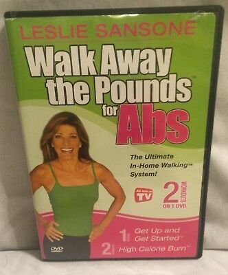 Leslie Sansone Walk Away the Pounds for Abs 2 workouts on 1 DVD exercise