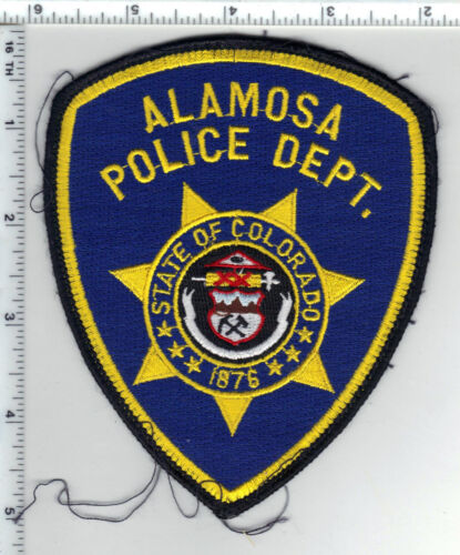 Alamosa Police (Colorado) Uniform Take-Off Shoulder Patch from the 1980