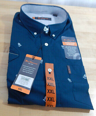 NWT Men's Ben Sherman Woven Short Sleeve Stretch Soft Handfeel Casual Shirt