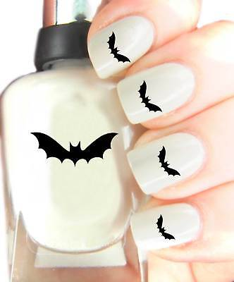 Halloween Bat - Nail Art Decal Stickers, easy to use on any colour nail.08 - Halloween Easy Nails