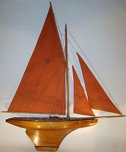 Canot de bassin bateau voilier nova 807 luxe n 9 coque vernie 1931 htr 1m20 ebay - Voilier de bassin ancien nanterre ...