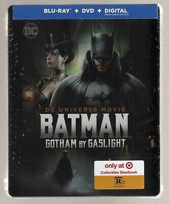 BATMAN: GOTHAM BY GASLIGHT BLU RAY / DVD TARGET EXCLUSIVE STEELBOOK BRAND NEW