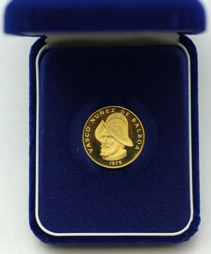 1975 Republic of Panama 100 Balboas Gold 900/1000 fine 8.16 grams in Box