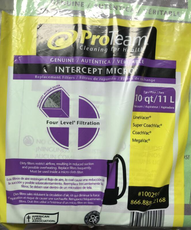 ProTeam 100291 Intercept 10 Qt Capacity Micro Closed Collar Filter Bags, 10 Pack