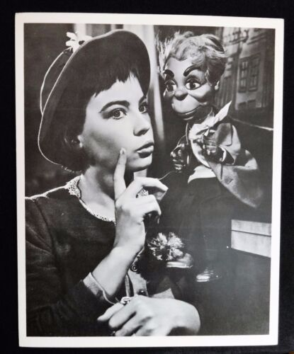 """LESLIE CARON"" & her friend ""CARROT TOP"" from the movie LILI - movie photo still"