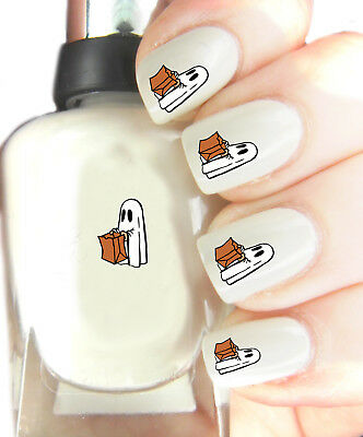 Halloween Ghost - Nail Art Decal Stickers, easy to use on any colour nail.287 - Halloween Easy Nails