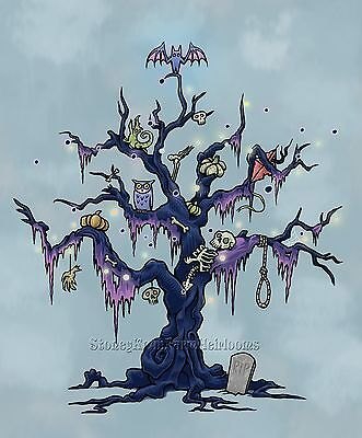 Spooky Halloween Tree ~ DIY Counted Cross Stitch Pattern](Diy Halloween Spooky Tree)