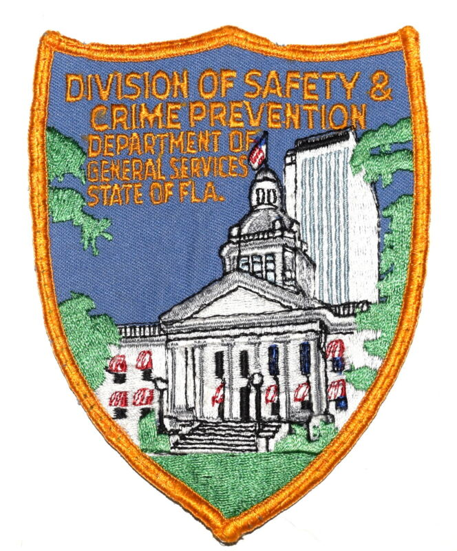 FLORIDA – SAFETY & CRIME PREVENTION – GENERAL SERVICES FL Police Patch USED ~
