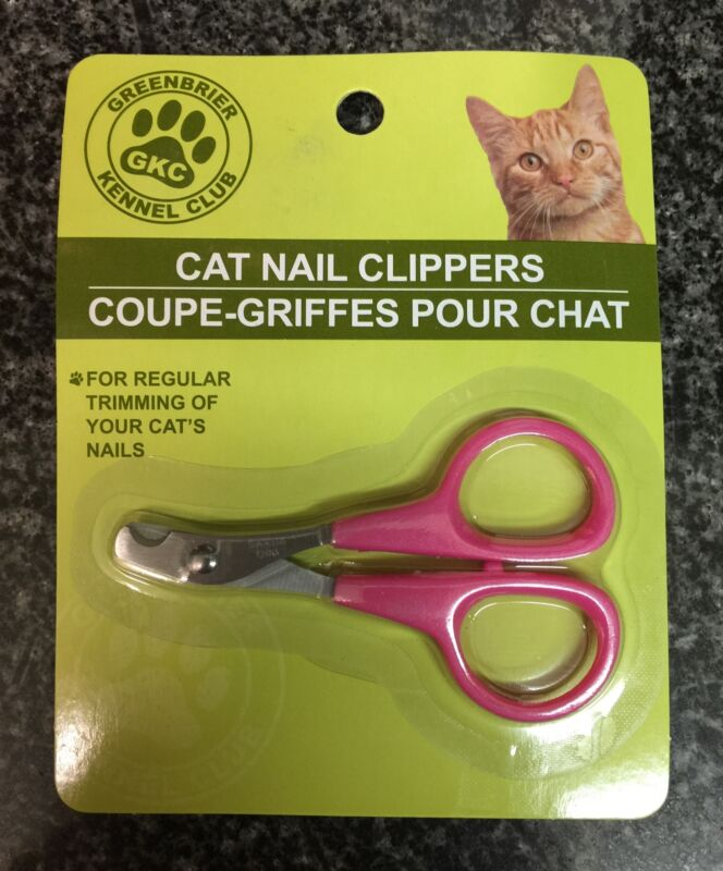 Greenbrier Kennel Club Cat Nail Clippers Grooming Trimmer Scissors (Pink)