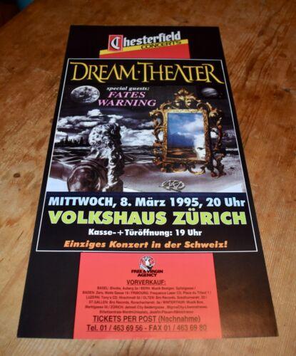DREAM THEATER fates warning ORIGINAL SWISS CONCERT POSTER 1995