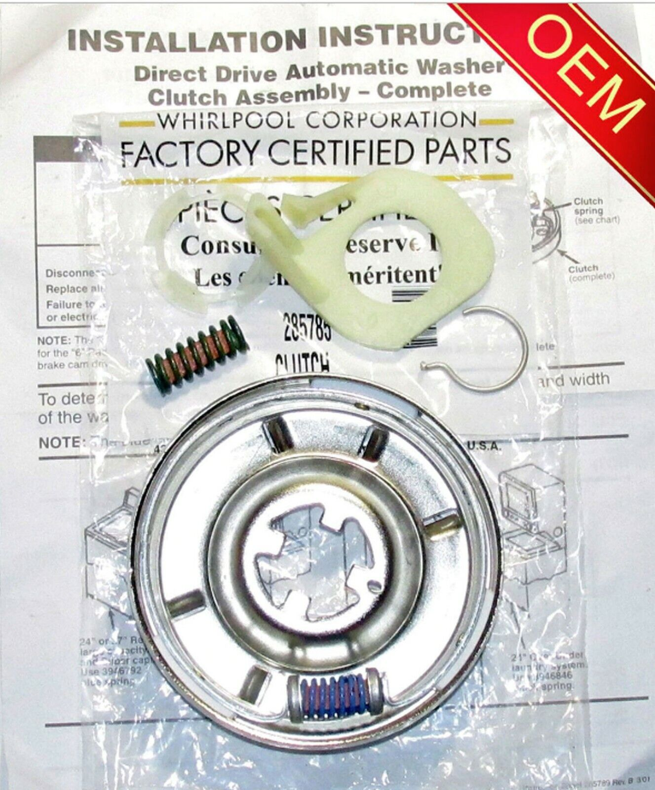 NEW Genuine OEM Washer Clutch Whirlpool Kenmore (Check Model Fit