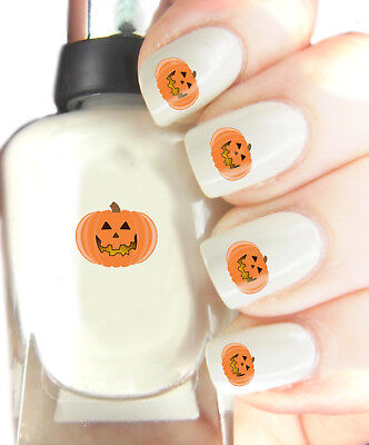 Halloween Pumpkin - Nail Art Decal Stickers, easy to use on any colour nail.283 - Halloween Easy Nails