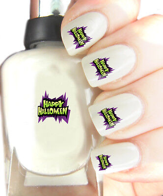 Halloween Easy Nails (Happy Halloween - Nail Art Decal Stickers, easy to use on any colour)