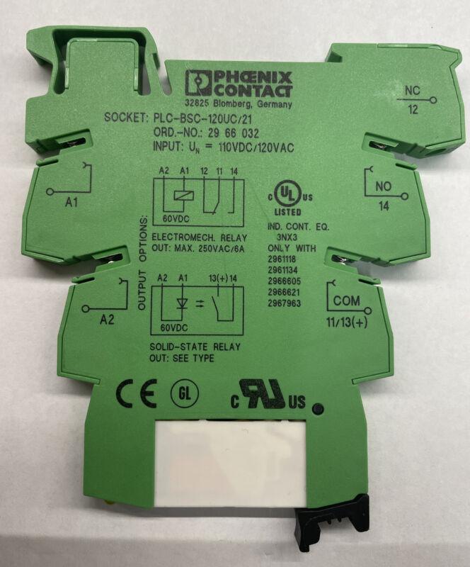 PHOENIX CONTACT PLC-BSC-120UC/21 PLC BASIC TERMINAL BLOCK 120-VAC 6.2MM Relay