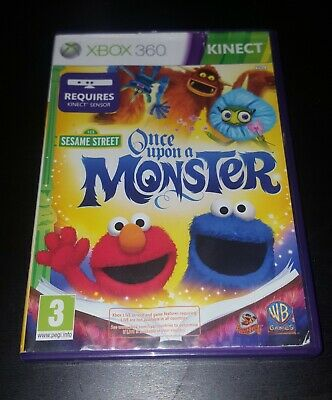 Sesame Street - Once Upon a Monster Microsoft Xbox 360 Kinect Kids Game, VGC