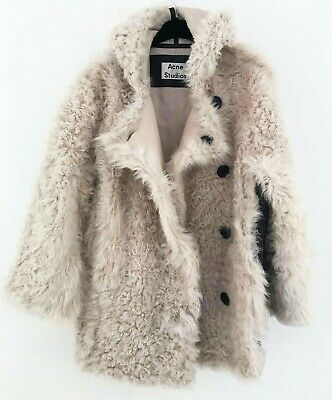 Acne Studios Ecru Lune Shearling Jacket Size 36